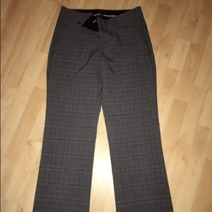 Lined checkered trousers